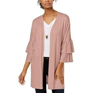 Hooked Up by IOT Womens Open Front CardiganSweater
